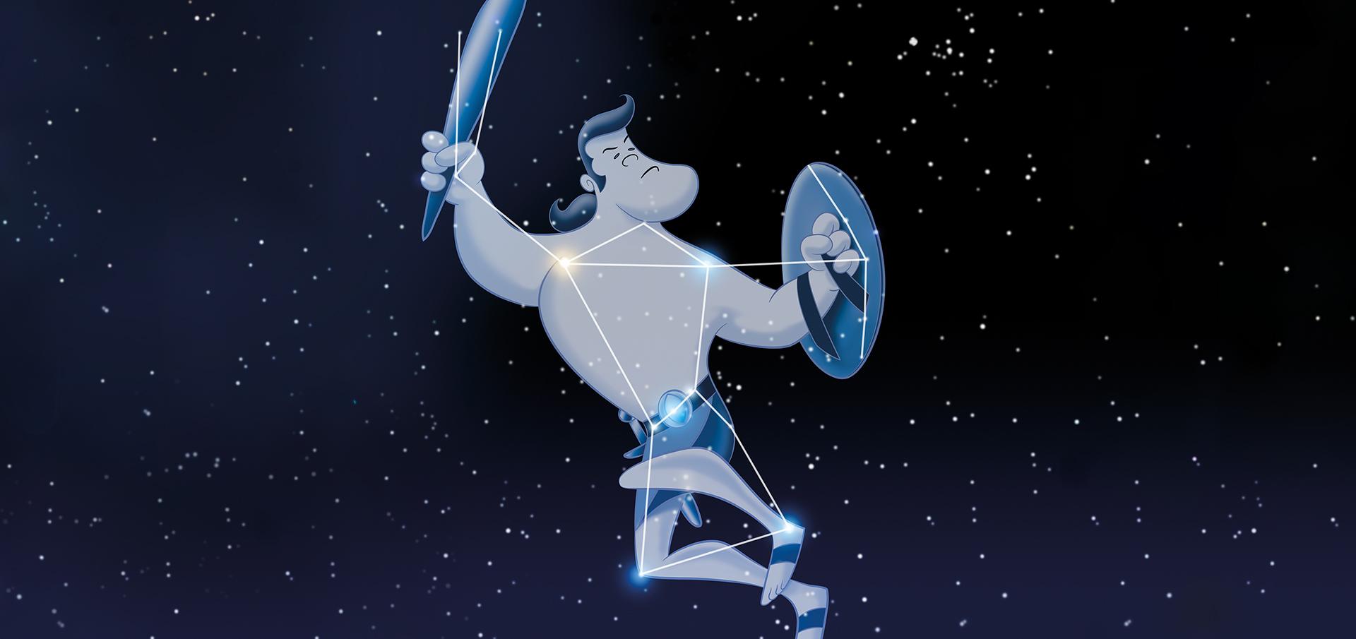 Sternbilder Und Legenden Der Winternacht
