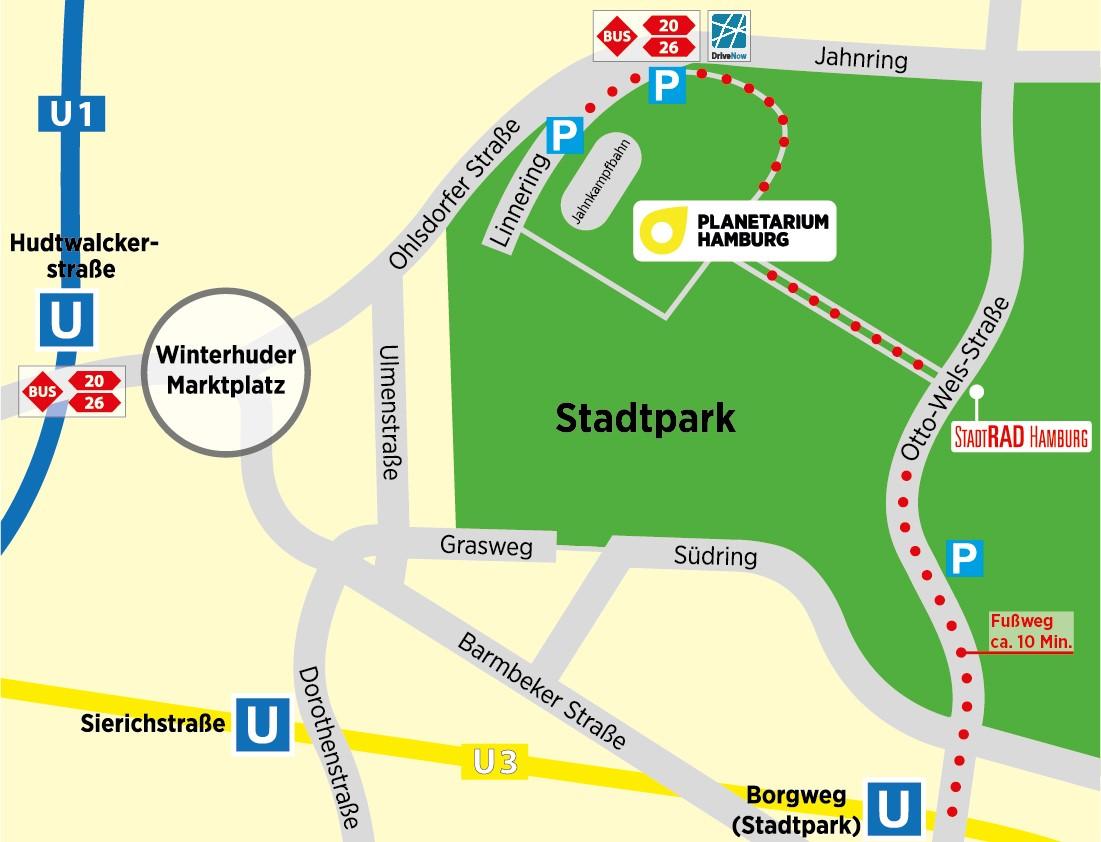 Hamburg Hauptbahnhof Karte.Preise öffnungszeiten Im Planetarium Hamburg